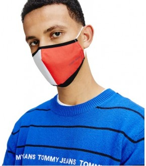 MASCARILLA TOMMY AM074850GY FLAG FACE COVER